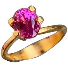2.14 Carat Oval Pink Sapphire Loose Gemstone