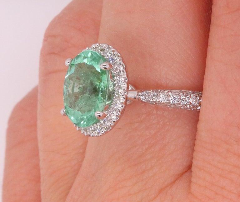 2 14 Carat Paraiba Tourmaline And Diamond Ring For Sale At