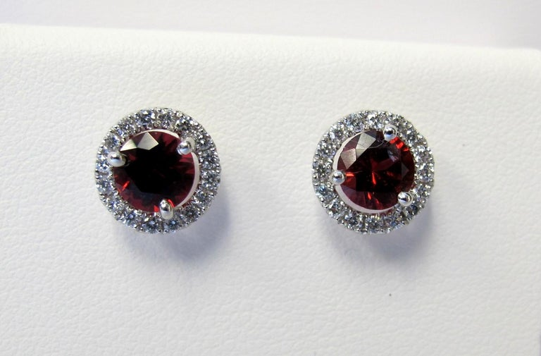 These bright and beautiful RED spinel and diamond earrings will enhance and beautify. The color of these spinels rival the color of the finest  Burmese rubies. No wonder some of the stones thought to be rubies in the British Crown Jewels actually