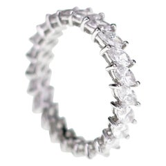 2.15 Carat Domino Effect White Marquise Diamond Band Ring Daily Wear
