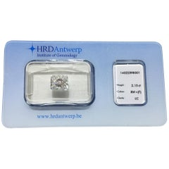 2.15 Carat HRD Certificate White Radiant Cut Diamond