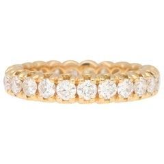 2.15 Carat Round Cut Diamond Eternity Ring in 18 Karat Rose Gold