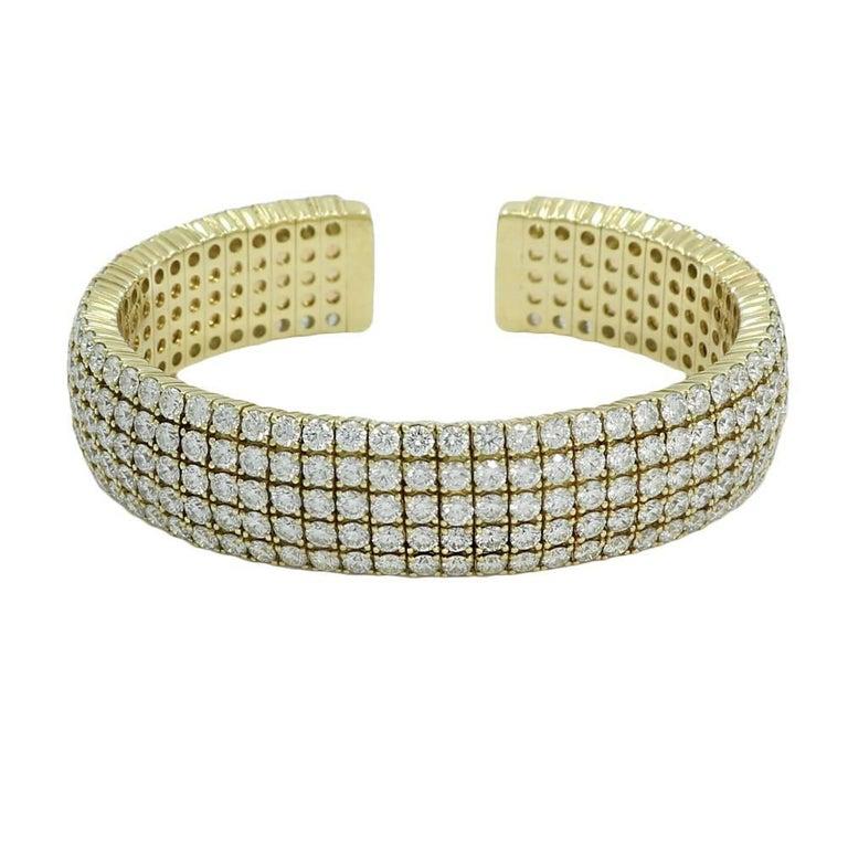 21.50 Carat Diamond Cuff in Yellow Gold