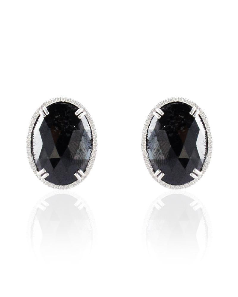 1 ct Black Diamond Stud Earrings in