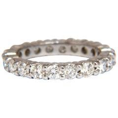 2.16 Carat Natural Round Diamonds Eternity Ring Sharing Prong