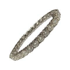 21.60 Carat Total Weight Round Brilliant Diamonds Tennis Bracelet
