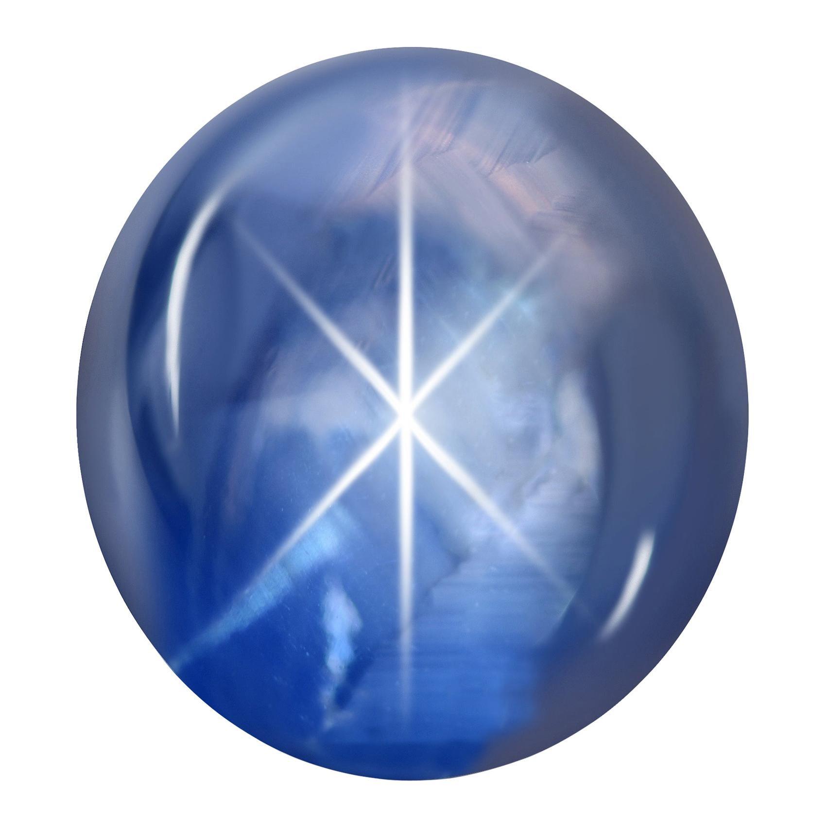 216.34 Carat Natural Sri Lankan Blue Star Sapphire GRS Certificate