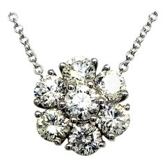2.17 Carat 14 Karat Gold Floral Design Necklace
