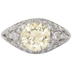 2.18 Carat Diamond Platinum Engagement Ring