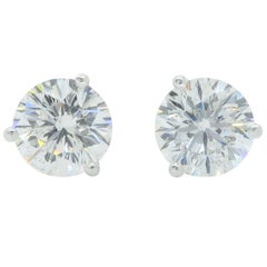 2.18 Carat Leo Diamond Stud Earrings