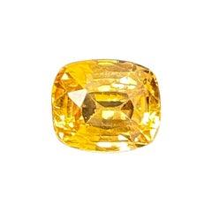 2.18 Carat Unheated Cushion-Cut Burmese Yellow Sapphire