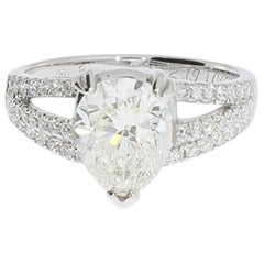 2.19 Carat Diamond Gold Engagement Ring