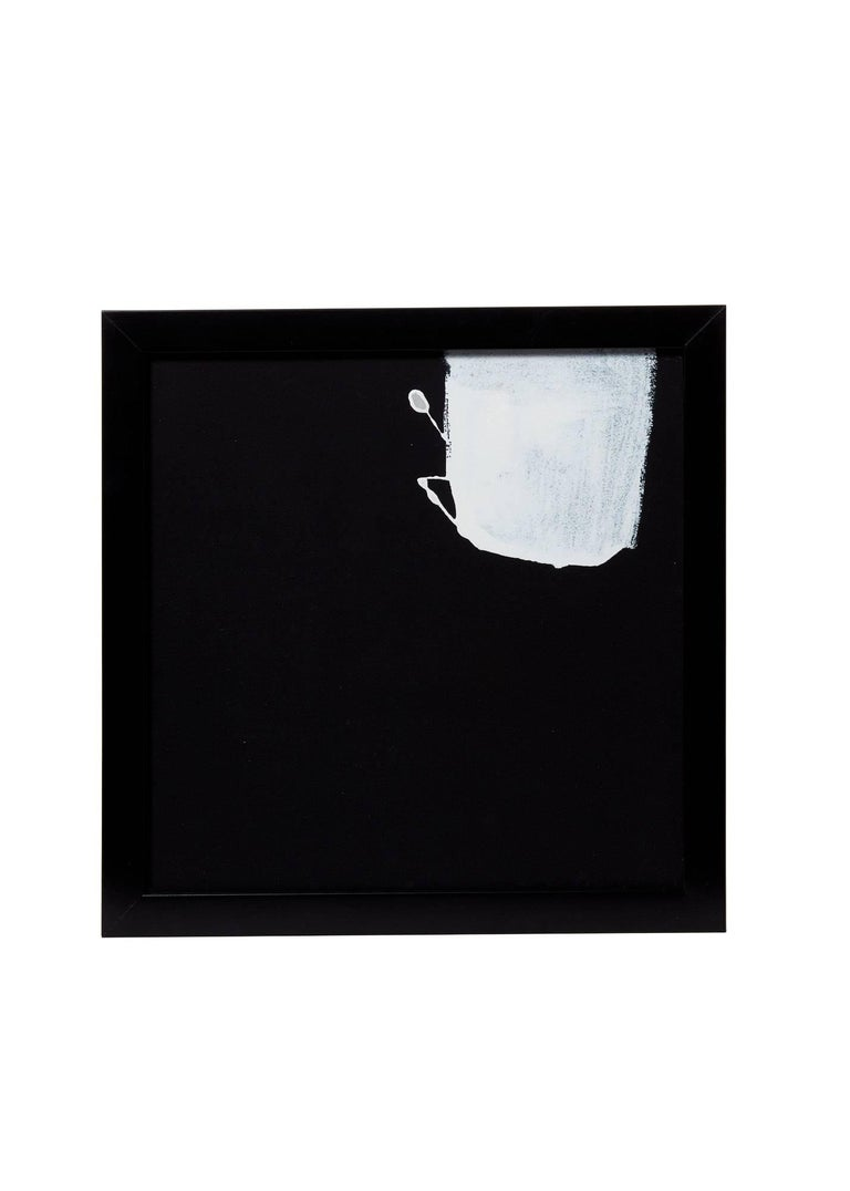 21st century (4) framed white on black paper paintings by Greg Dickerson.