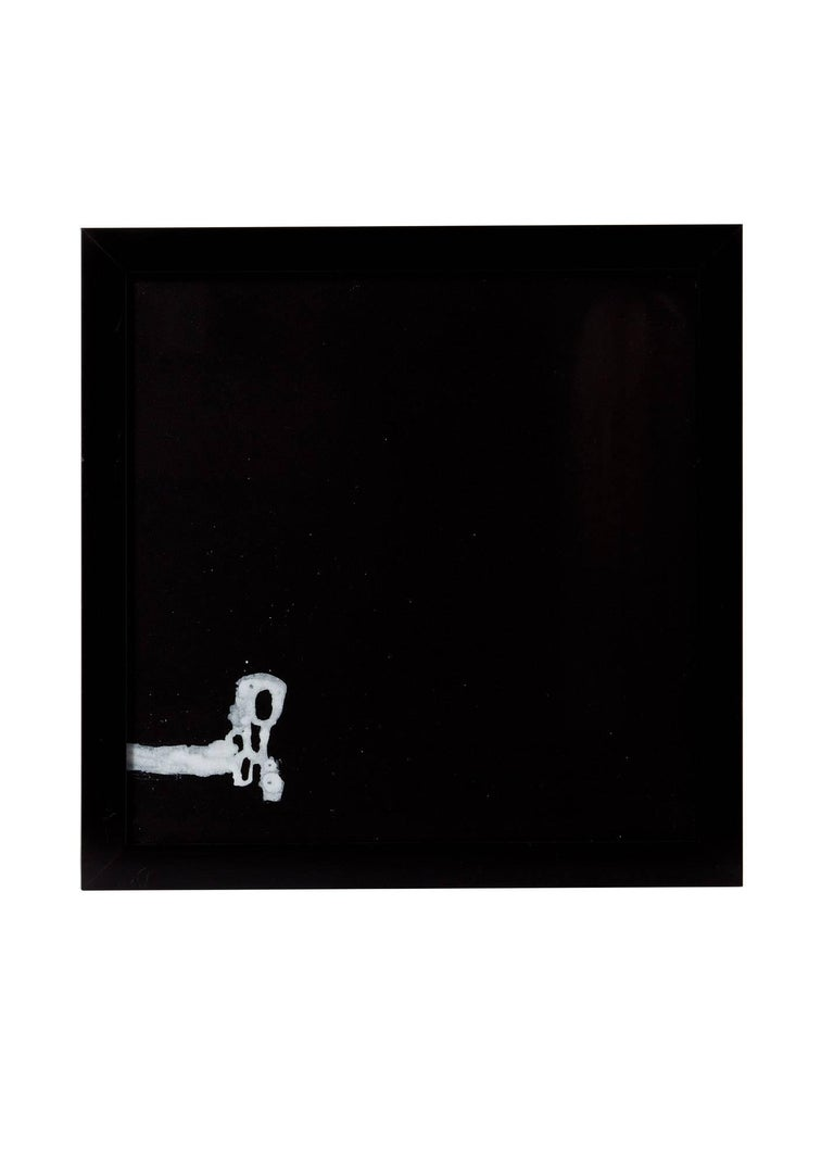 American 21st Century '4' Framed White on Black Paintings by Greg Dickerson For Sale
