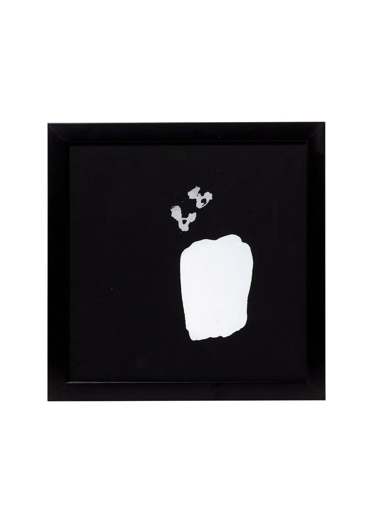 21st Century '4' Framed White on Black Paintings by Greg Dickerson In New Condition For Sale In Chicago, IL