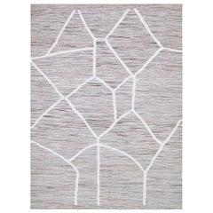 21st Century Abstract Handwoven Anatolian Vintage Wool Cotton Kilim