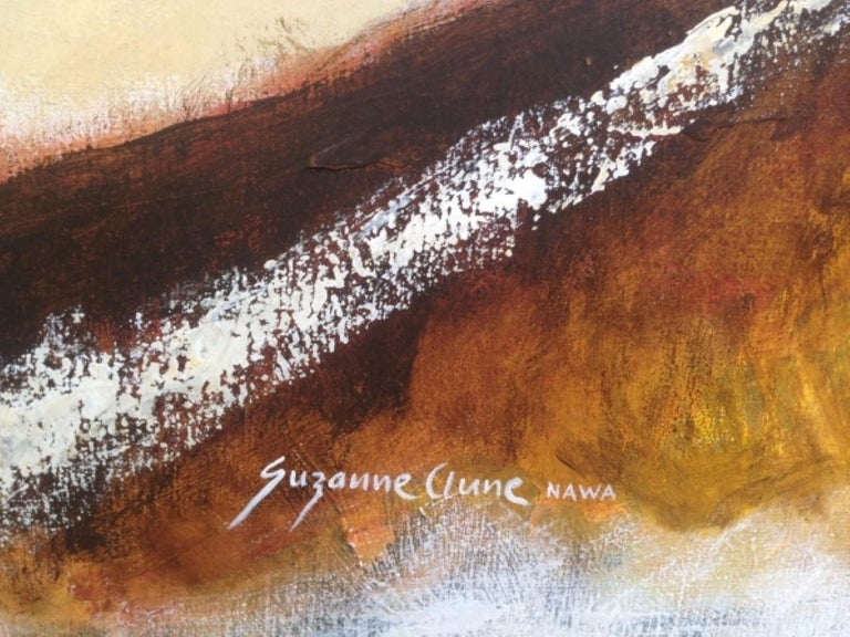 Expressionist 21st Century Abstract Painting on Canvas, Suzanne Clune