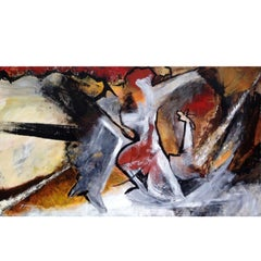 "21st Century Abstract Painting on Canvas, Suzanne Clune ""Figures"""