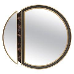 21st Century Alaska Mirror Marble Polished Brass Ashwood