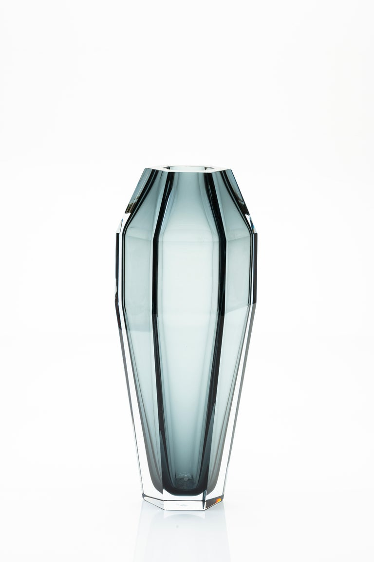 Modern 21st Century Alessandro Mendini Murano Frosted Glass Vase Various Colors For Sale
