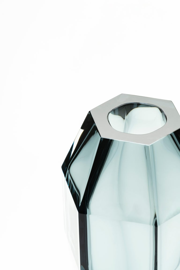 Hand-Crafted 21st Century Alessandro Mendini Murano Frosted Glass Vase Various Colors For Sale