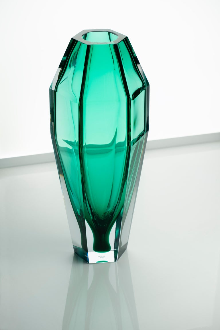 21st century Alessandro Mendini, GEMELLO transparent vase, Murano glass, various colors.