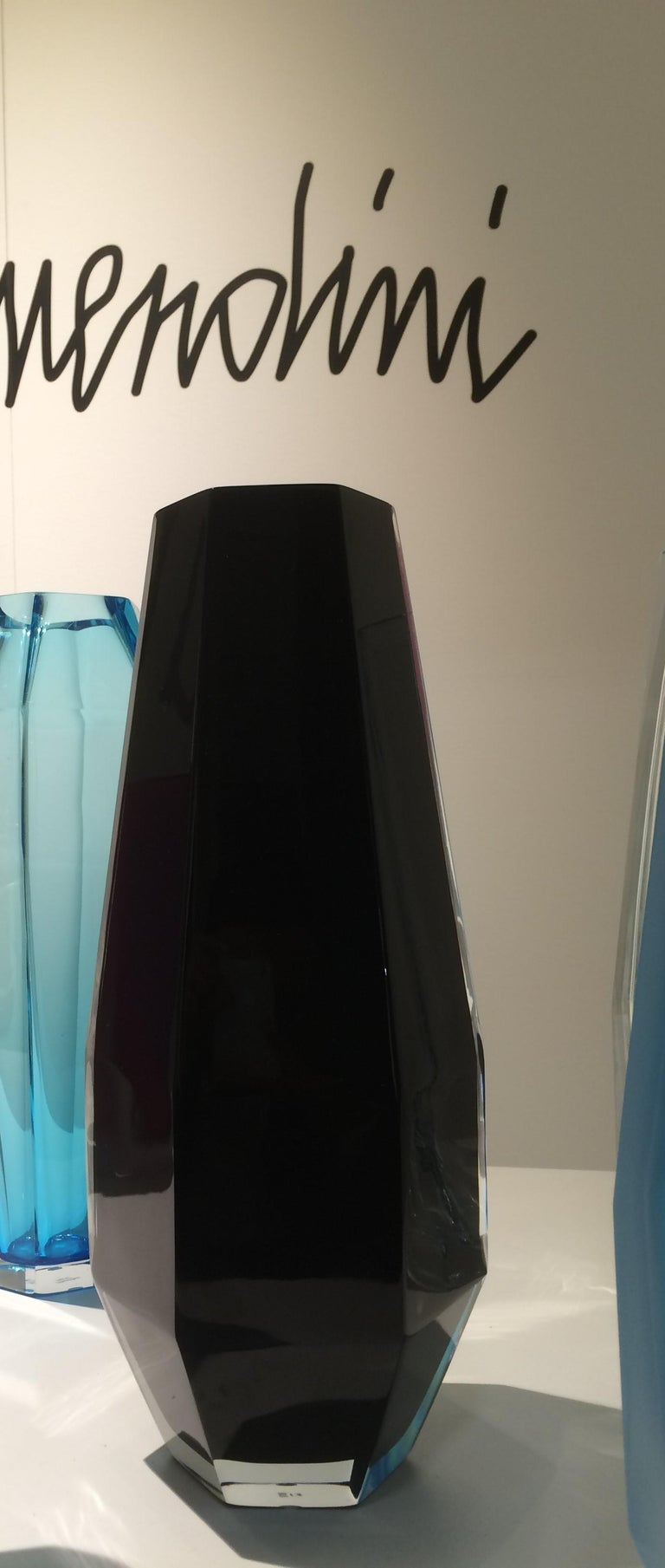 Contemporary 21st Century Alessandro Mendini Murano Transparent Glass Vase Various Colors For Sale