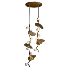 21st Century Almond Pendant Lamp Brass