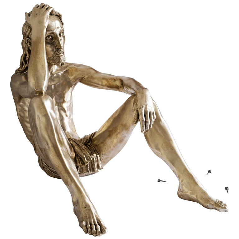 """21st Century """"Amen"""" Sculpture by Marcantonio, Polished Brass For Sale"""