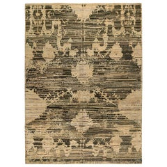 21st Century Anatolia Beige and Brown Hand Knotted Wool Rug