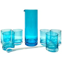 21st Century and New Blown Glass Drinks Set of Eight