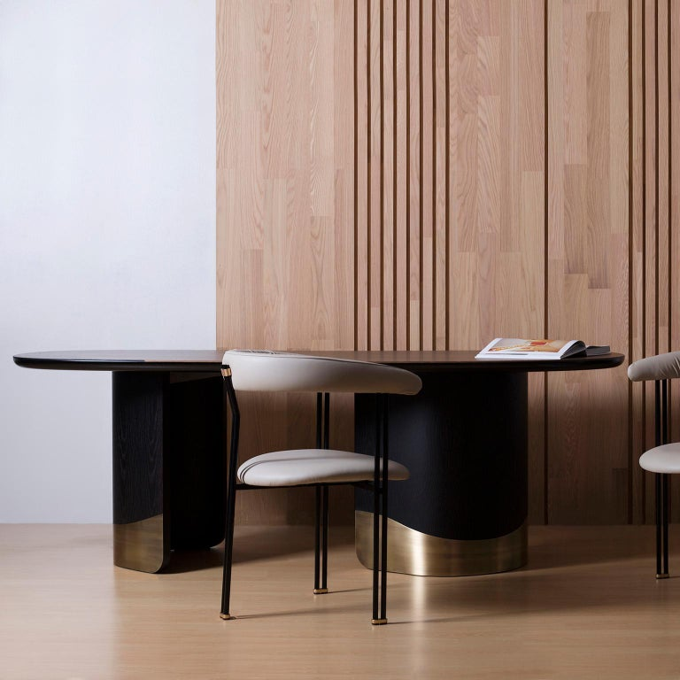 21st Century Modern Armona Dining Table Handcrafted Portugal by Greenapple  For Sale 3