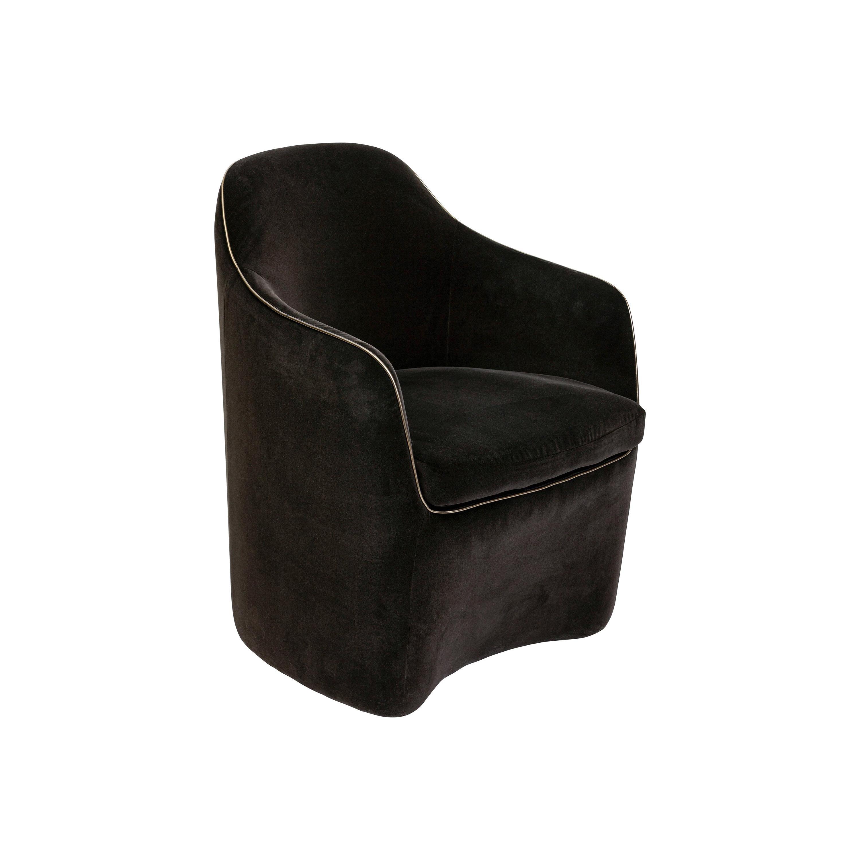 21st Century Art Deco Elie Saab Maison Brown Velvet Elite Dining Chair, Italy