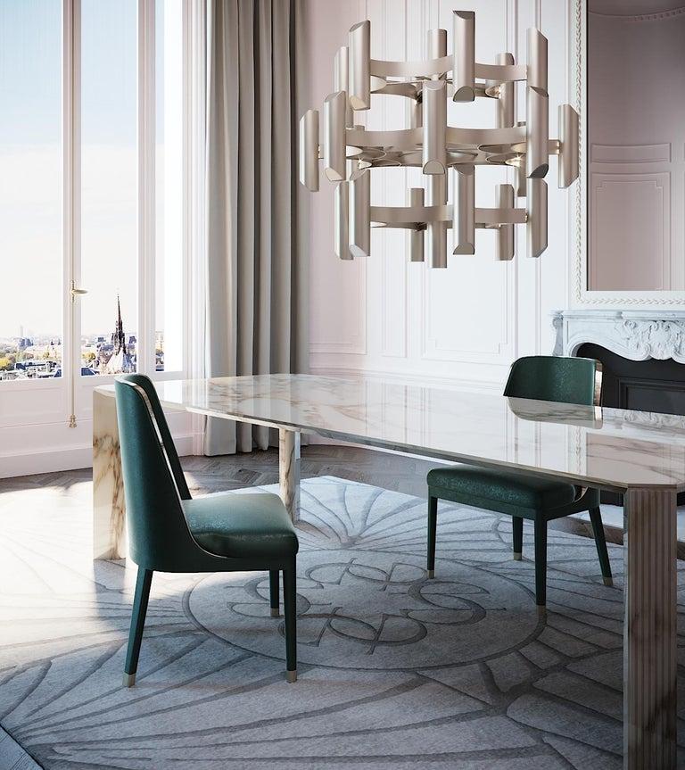21st Century Art Deco Elie Saab Maison Calacatta Gold Marble Dining Table, Italy For Sale 1
