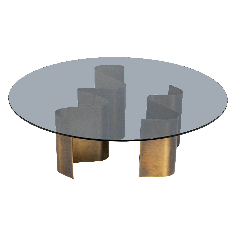 21st Century Art Déco Elie Saab Maison Dunes Glass Bronzed Coffee Table, Italy