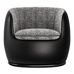 21st Century Art Deco Elie Saab Maison Duotone Leather Club Armchair, Italy