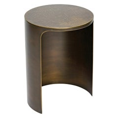 21st Century Art Deco Elie Saab Maison Hammered Brass Palace Side Table, Italy