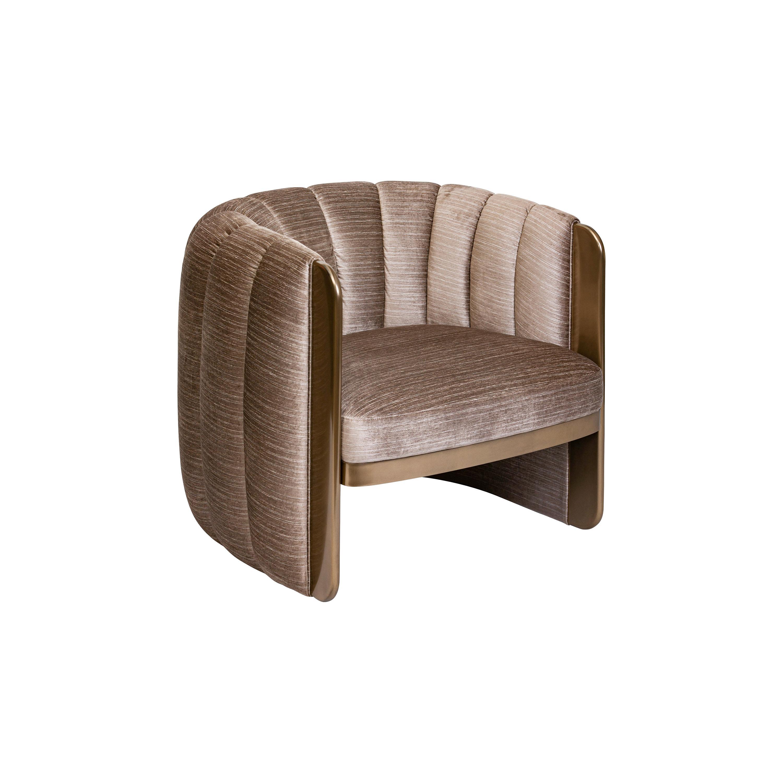21st Century Art Deco Elie Saab Maison Liquid Metal Fabric Kate Armchair, Italy