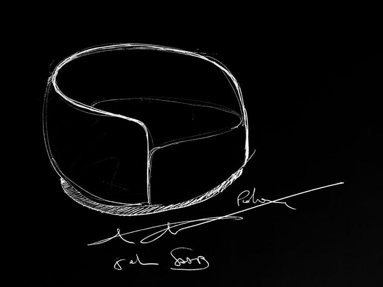21st Century Art Deco Elie Saab Maison Marino Acqua Fabric Elite Armchair, Italy For Sale 2