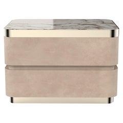 21st Century Art Deco Elie Saab Maison Nabuk Marble Essence Nightstand, Italy