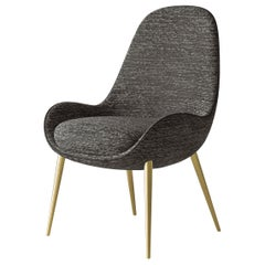 21st Century Art Déco Elie Saab Maison Polished Brass Joelle Dining Chair, Italy