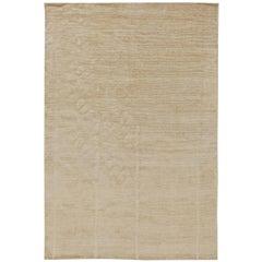 21st Century Art Deco Style Line Design Carpet in Soft Beige