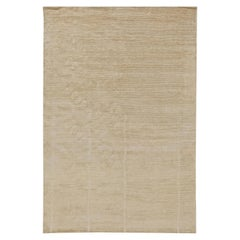 21st Century Art Deco Style Line Design Carpet in Soft Beige
