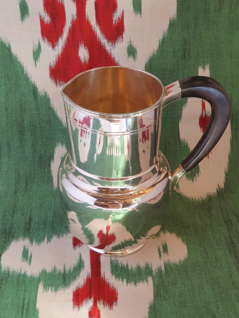 21st Century Art Deco Style Sterling Silver Water Pitcher, Italy, 2003 In New Condition For Sale In Cagliari, IT