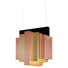 21st Century Art Deco Tower Suspension Lamp Handcrafted Portugal by Greenapple