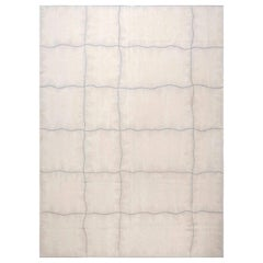 21st Century Aubusson Design Beige and Gray Rug by George Terbovich