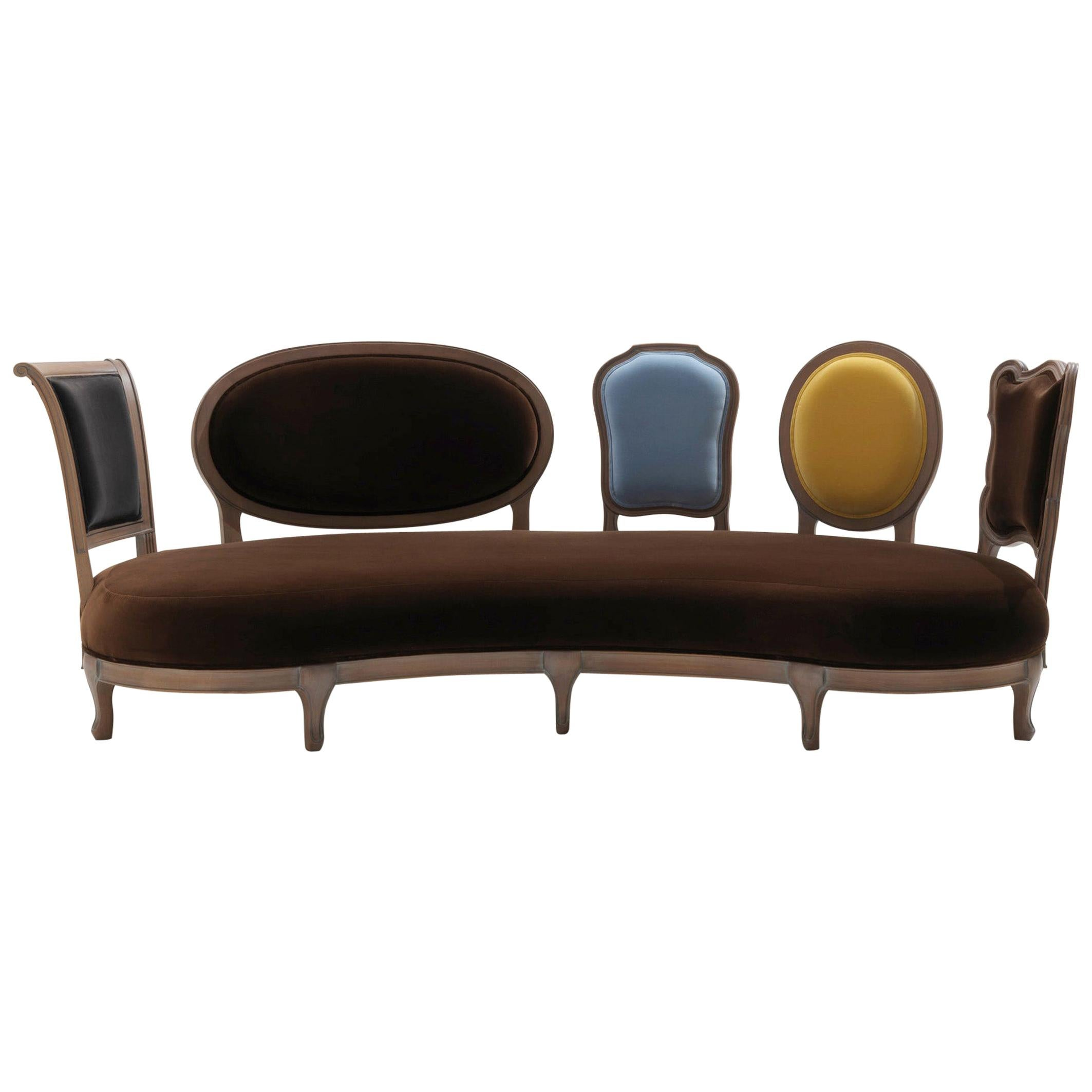 Back to Back Sofa with 5 Different Backs and Solid wood frame