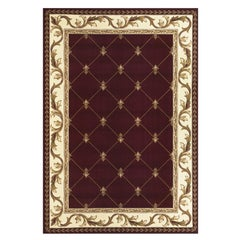 21st Century Bamboo Silk Handknotted Rug by Modenese Interiors, Red and Gold
