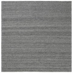 21st Century Bauer Collection Minimalist Gray Handmade Wool Rug I