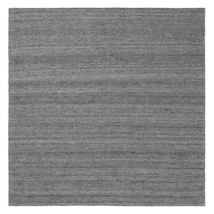 21st Century Bauer Collection Minimalist Grey Handmade Wool Rug I
